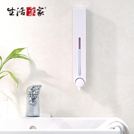 【生活采家】幸福手感經典白500ml單孔手壓式給皂機#47001