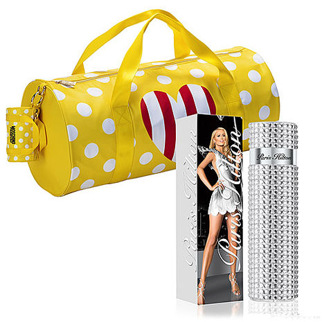 Paris Hilton 派瑞絲希爾頓十周年璀璨紀念限量版女性淡香精 100ml + MOSCHINO 點點愛心旅行袋 【特賣】