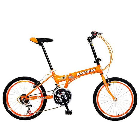 【預購】【WANMA】城市悠遊 W801 20吋21速小徑折疊車(多色可選)(DIY調整)橘