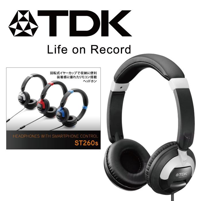 TDK - 耳罩式線控立體聲耳機麥克風 (黑色) ST260s