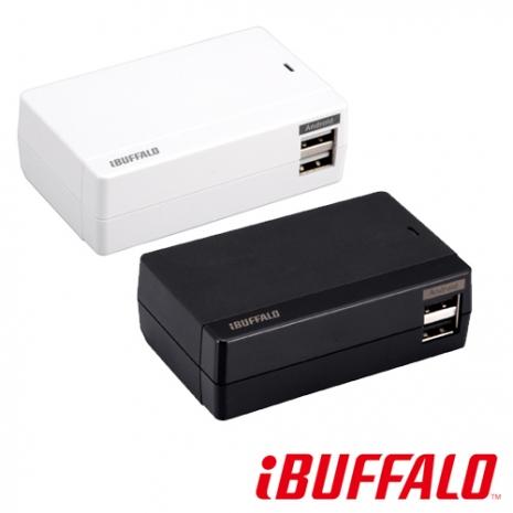 【福利品】BUFFALO 4.8A 大電流 USB 充電座(4port)黑