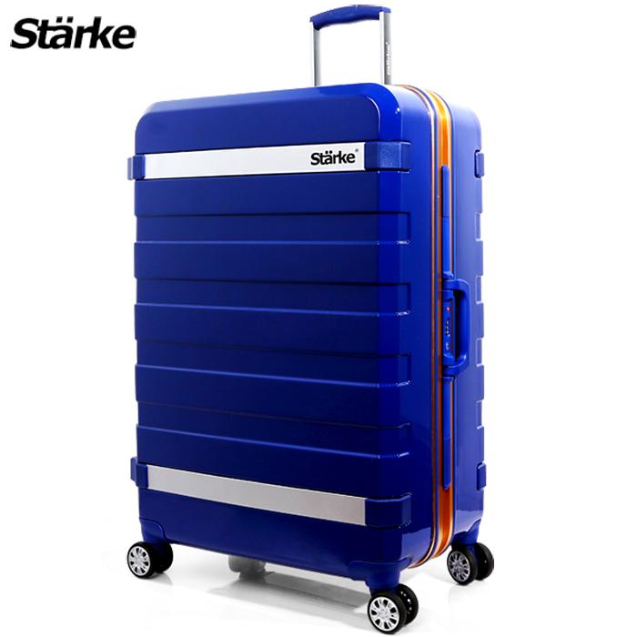德國設計Starke 29吋 PC 鏡面鋁框硬殼行李箱 J系列-藍色