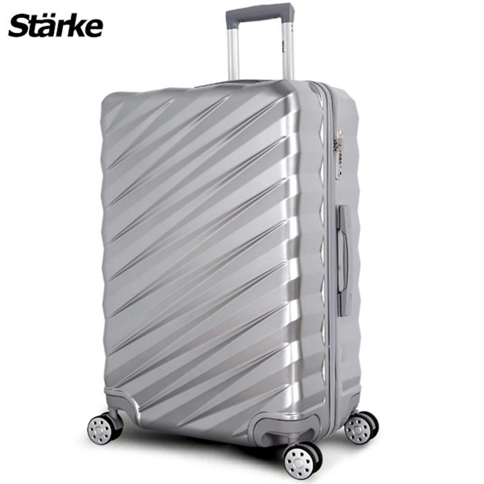 德國設計Starke 薩爾 28吋PC+ABS耐撞TSA海關鎖拉鏈行李箱/旅行箱-銀色