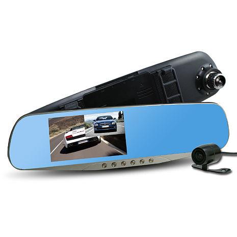 【任選79折】行走天下 CR05 雙鏡頭後視鏡行車記錄器