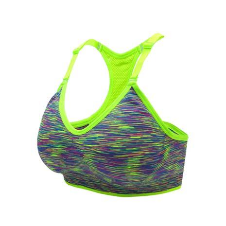 【INSTAR】細肩帶女運動內衣-運動BAR 背心 韻律 有氧 瑜珈 比基尼 螢光綠M