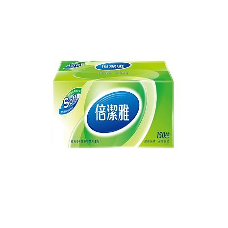 倍潔雅超質感抽取式衛生紙150抽x56包/箱-免運費