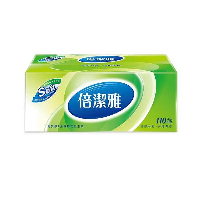 倍潔雅超質感抽取式衛生紙110抽8包10袋/箱-免運費(門市購)