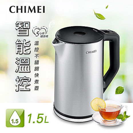 CHIMEI奇美 1.5L五心級溫控不鏽鋼快煮壺 KT-15MDT0(app)
