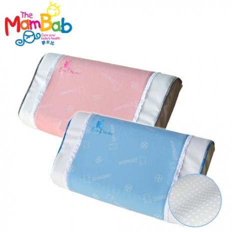 《Mambab-夢貝比》銀離子抗菌兒童透氣孔乳膠枕 -雙色粉紅色
