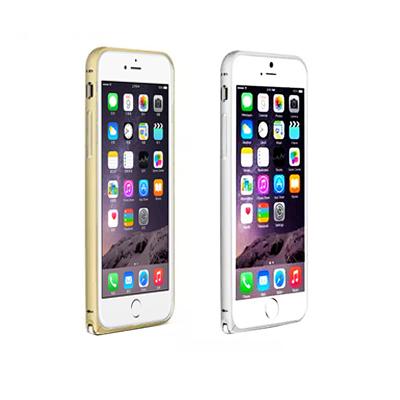LOVE MEI iPhone6 Plus 簡約輕薄海馬扣金屬邊框銀