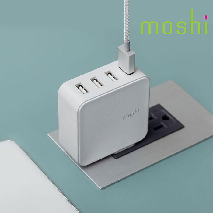 {原廠公司貨}Moshi ProGeo 旅充系列 USB 4-Port 高電力輸出 USB 充電器