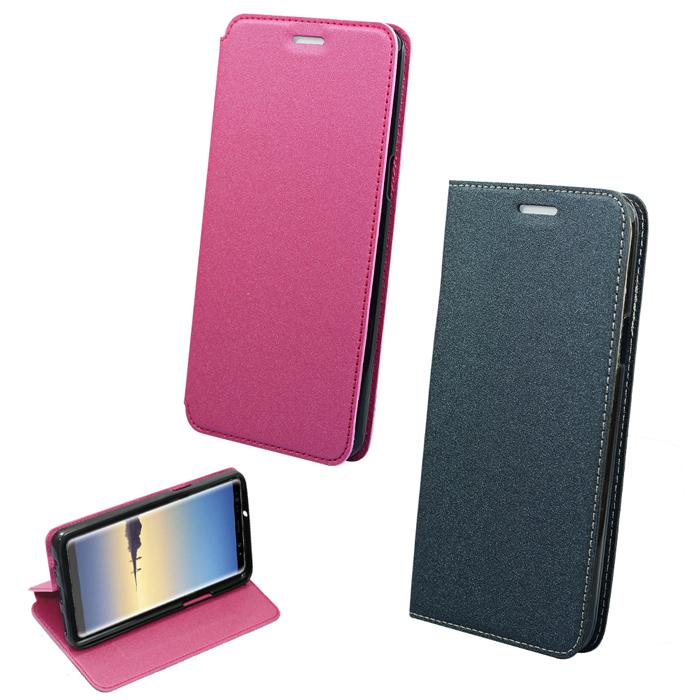 YANG YI 揚邑》Samsung Galaxy Note8 6.3吋 金沙純色車線側立隱藏磁扣皮套玫