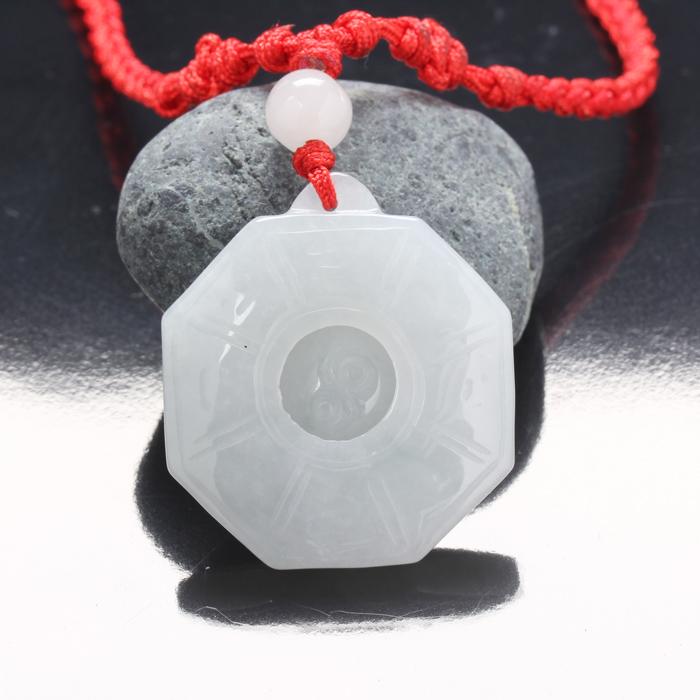 【雅紅珠寶】八卦扭轉乾坤冰種翡翠項鍊玉墜子