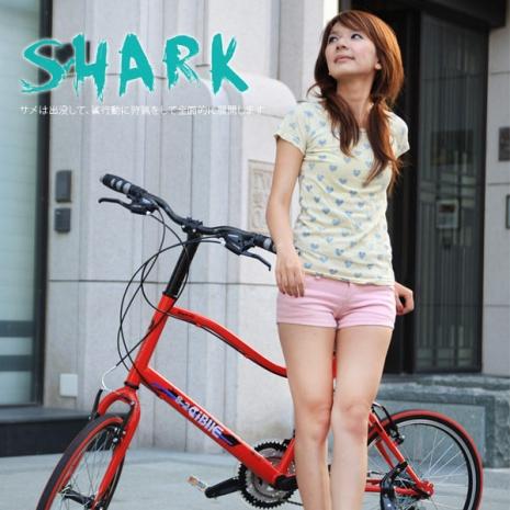 【AiBIKE】 SHIMANO 20吋21速 鯊魚小徑車 二代進階款 小徑車消光黑