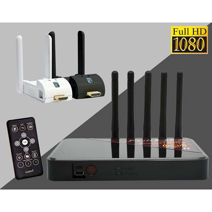 ROWA RW-5800 無線影音傳送器 無線影像傳輸 1080P 會議簡報 家庭數位生活時尚白
