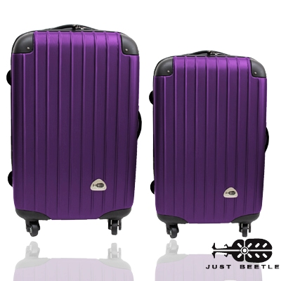 行李箱 旅行箱 Just Beetle 新都市系列(28+24吋)ABS 霧面拉桿箱登機箱二件組螢光粉