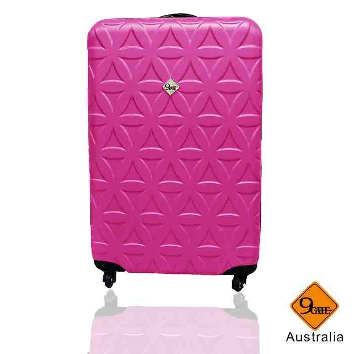 行李箱 旅行箱 Gate9花花系列(20吋)ABS霧面 拉桿箱 登機箱黑色