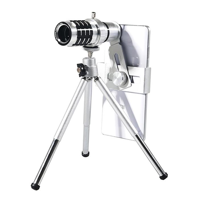 通用型手機12x長焦鋁合金望遠鏡頭