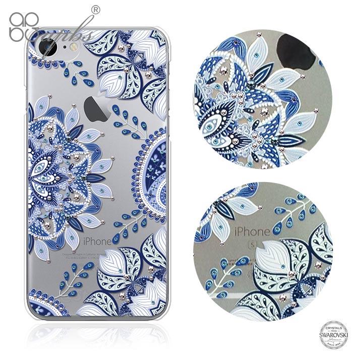 apbs iPhone8/7 Plus & iPhone8/7 施華洛世奇彩鑽手機殼-青花瓷i8/7共用款