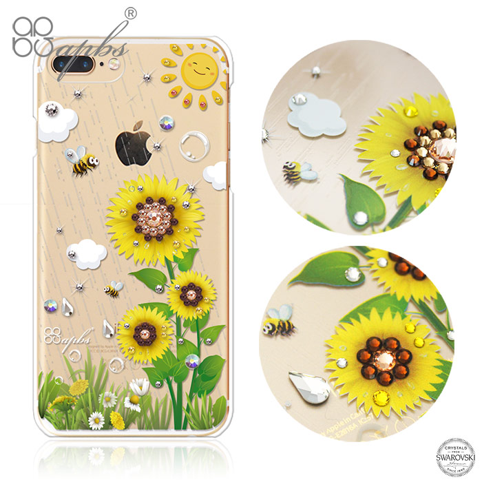 apbs iPhone全系列 施華洛世奇彩鑽手機殼-元氣朝陽iPhone6 Plus