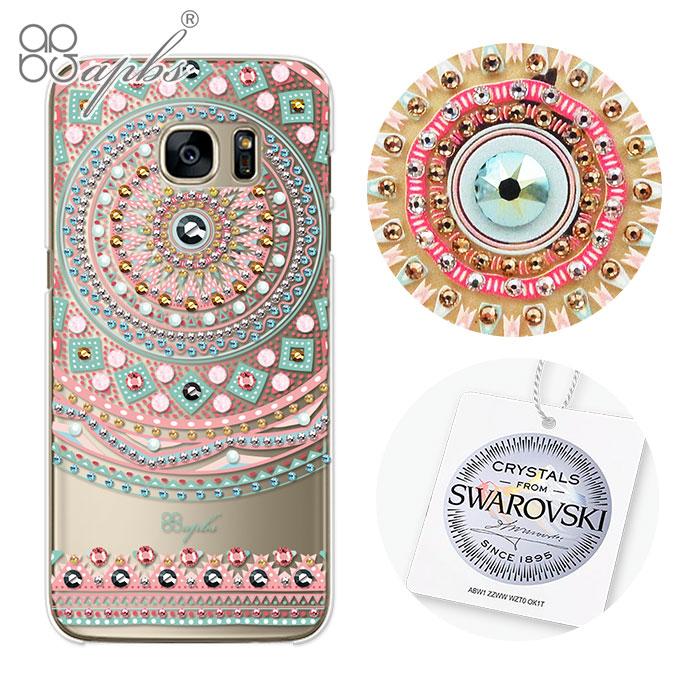 apbs Samsung Galaxy S7 edge 施華洛世奇彩鑽手機殼-滿版圖騰