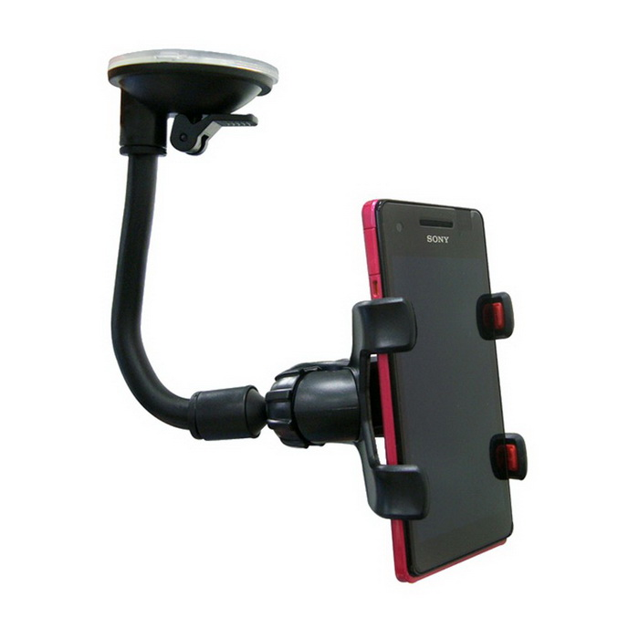【KT】雙牛角 360度無死角吸盤手機支架(KTPSMAC-009BK)