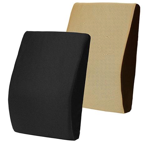 【源之氣】竹炭記憶透氣腰靠墊/兩色可選(黑/米咖)/下背釋壓 RM-9444黑色