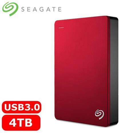 Seagate希捷 Backup Plus 2.5吋 4TB 行動硬碟-紅