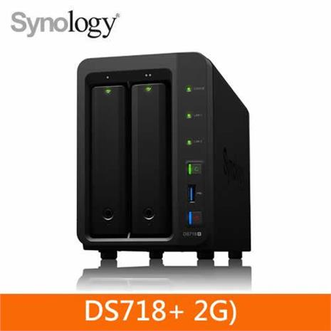 Synology DS718+ 2Bay 網路儲存伺服器