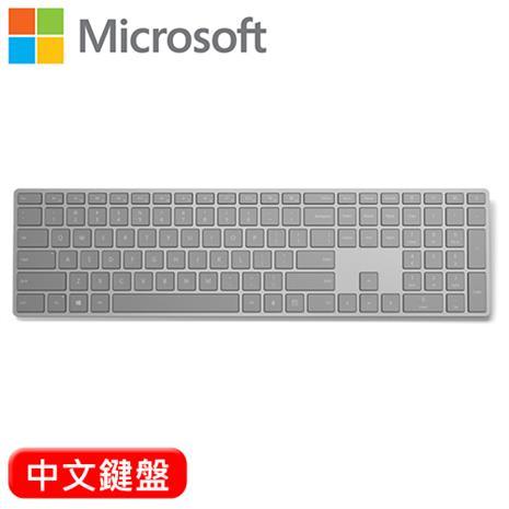 Microsoft 微軟 指紋辨識功能 時尚鍵盤(EKZ-00010) 中文