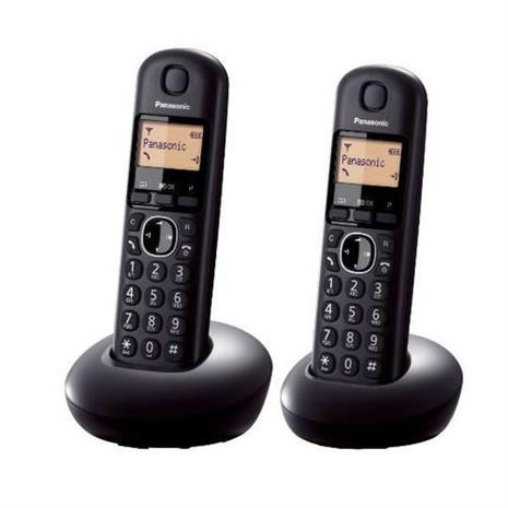 R1【福利品】Panasonic炫彩數位雙手機無線電話KX-TGB212TW黑