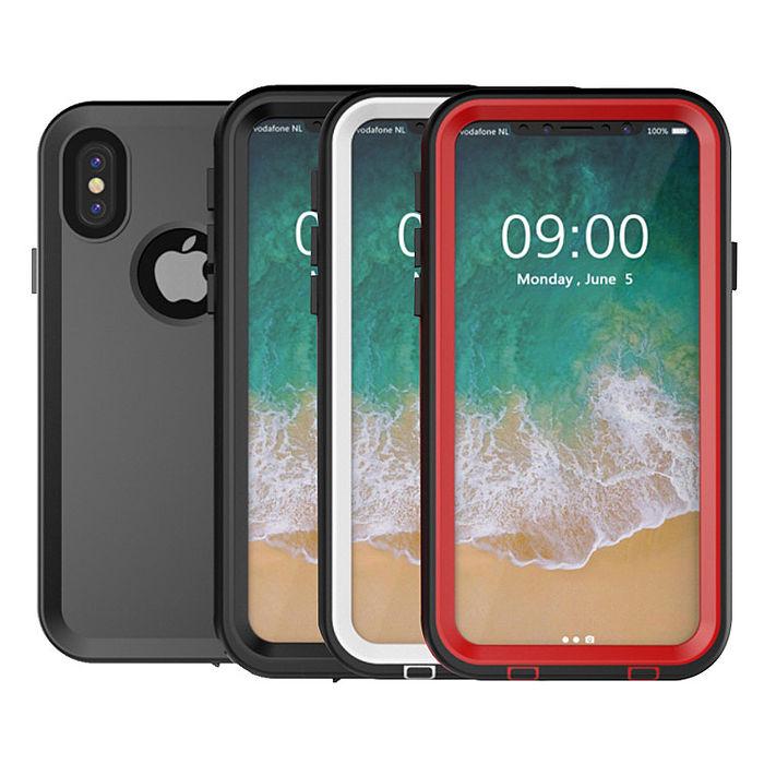水漾-Sharks box iPhone X IP68級 防水手機殼珍珠白