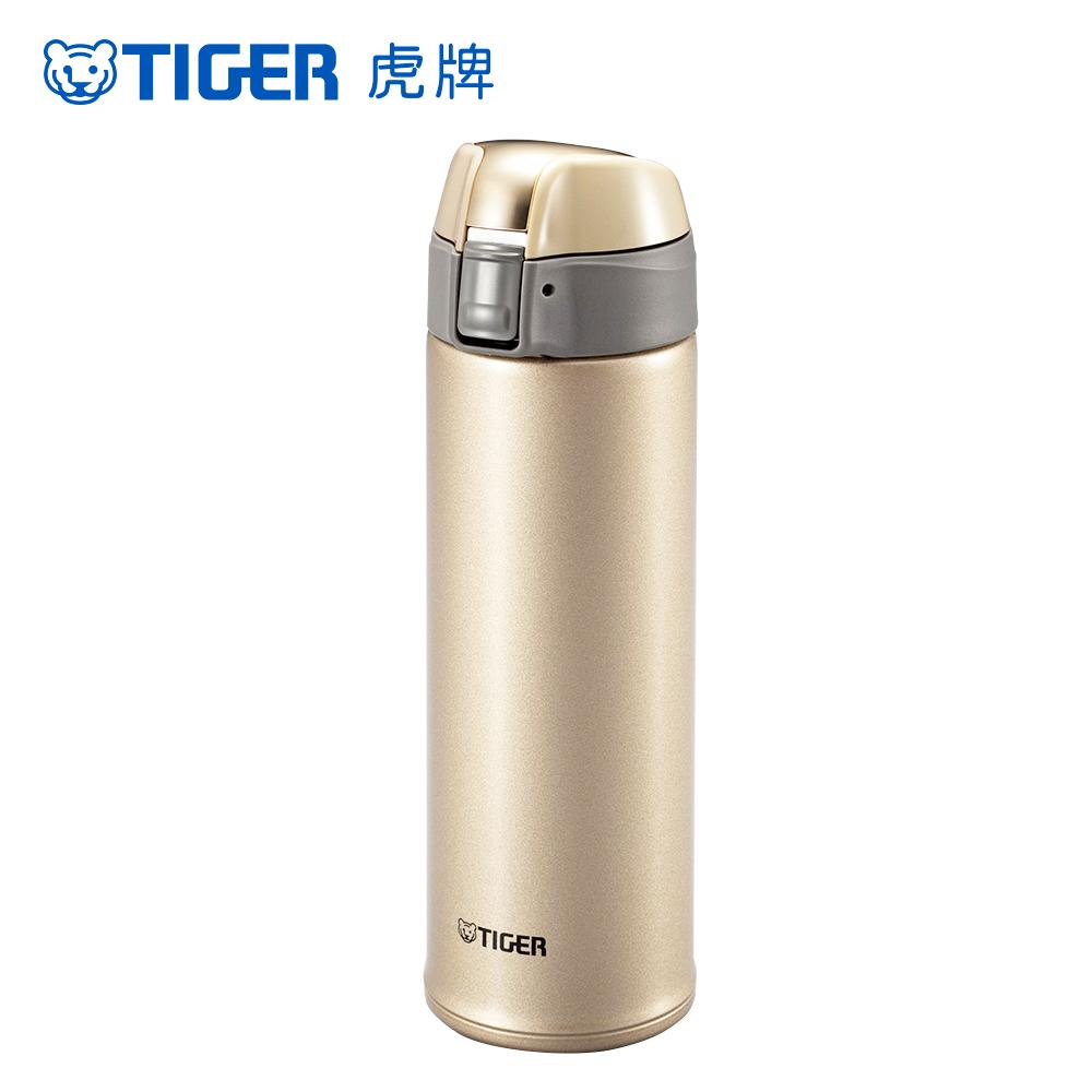 TIGER虎牌 500cc輕量型彈蓋式保溫保冷杯 (MMQ-S050-NH)氣質金