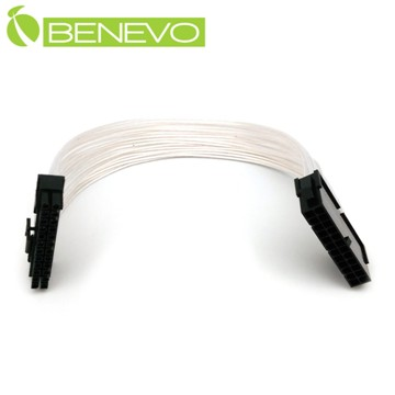 BENEVO鍍銀版 30cm 主機板電源24PIN(20PIN+4PIN)電源延長線