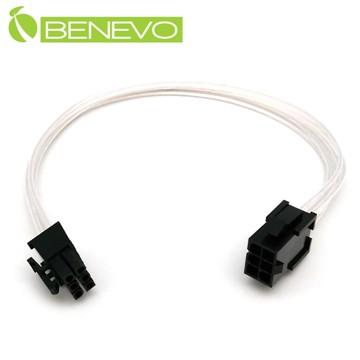 BENEVO鍍銀版 30cm 顯卡電源6PIN電源延長線