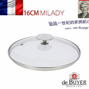 法國【de Buyer 】畢耶鍋具[畢耶夫人系列] 高耐熱玻璃鍋蓋16cm