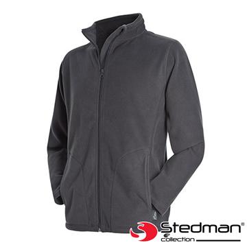 【德國STEDMAN】ST5030 細柔保暖刷毛外套-男-鐵灰