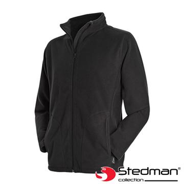 【德國STEDMAN】ST5030 細柔保暖刷毛外套-男-黑