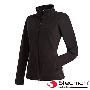 【德國STEDMAN】ST5100 細柔保暖刷毛外套-女-黑
