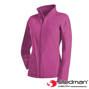 【德國STEDMAN】ST5100 細柔保暖刷毛外套-女-粉紫