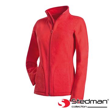 【德國STEDMAN】ST5100 細柔保暖刷毛外套-女-紅