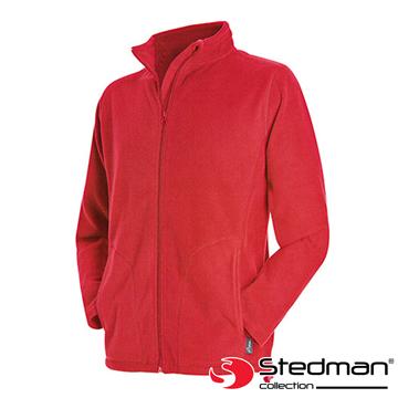 【德國STEDMAN】ST5030 細柔保暖刷毛外套-男-紅