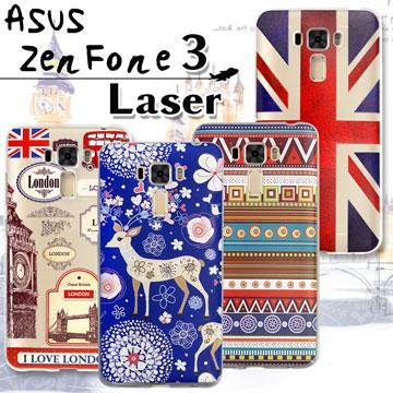 VXTRA ASUS ZenFone 3 Laser ZC551KL 率性風格 彩繪軟式保護殼 手機殼