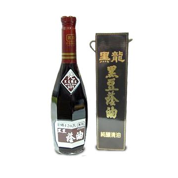 《黑龍》特級黑豆蔭油-油清(角瓶禮盒裝)(600ml)