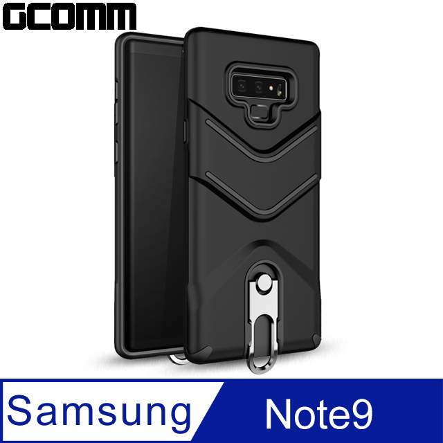 GCOMM Hook Shield 銀鉤盾甲防摔殼 Galaxy Note9 黑盾甲
