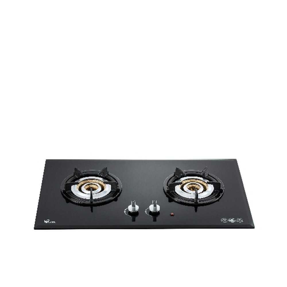(無安裝)喜特麗【JT-2208A_NG1-X】二口玻璃檯面爐內焰式黑色(與JT-2208A同款)瓦斯爐天然氣
