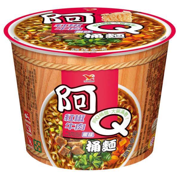 阿Q桶麵紅椒牛肉風味101g【康鄰超市】