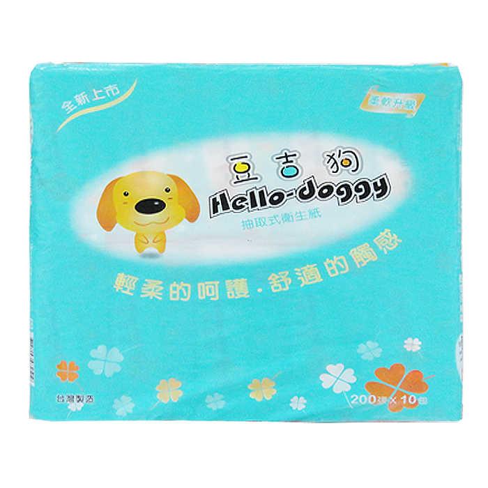 豆吉狗 抽取式衛生紙(200張X10包)【康鄰超市】