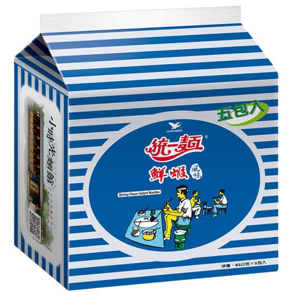 統一麵鮮蝦風味83g(5入)/袋【康鄰超市】