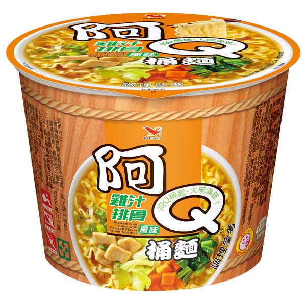 阿Q桶麵雞汁排骨風味107g【康鄰超市】